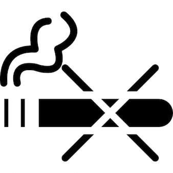 Nessun segno di fumare contorno