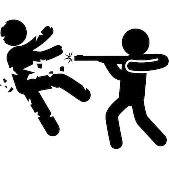 Persona uccidendo altro con un braccio