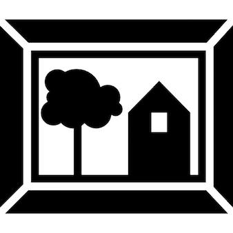 Quadro con cornice per soggiorno decorazione della casa