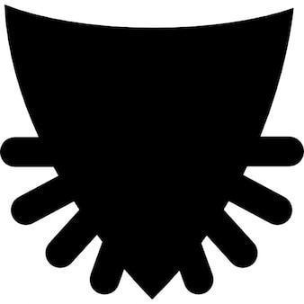 Scudo nero con punte
