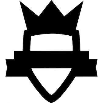 Scudo simbolica con corona e banner
