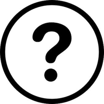 Segno di domanda nei circoli