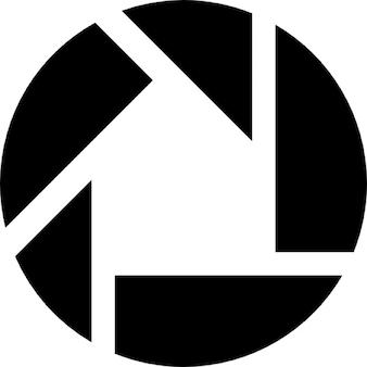 Simbolo picasa su sfondo nero quadrato scaricare icone for Logo sito internet
