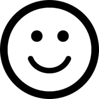 Sorridente emoticon faccia quadrata