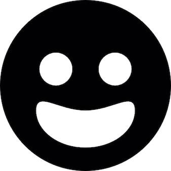 Sorridente faccia circolare per facebook