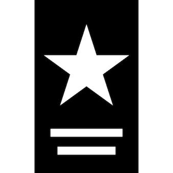 Stampa volantino con una stella