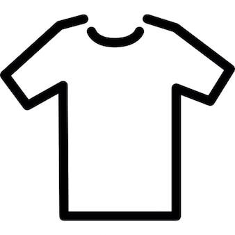 T-shirt modello di contorno in bianco