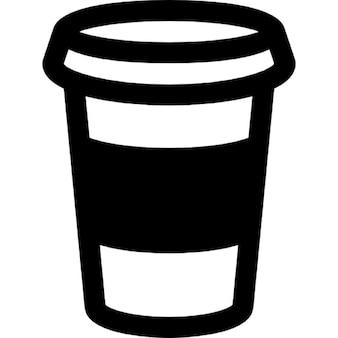 Tazza di caffè contorno