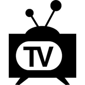 Televisione di modello d'epoca
