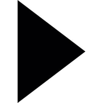 Triangolo che punta in nero a destra
