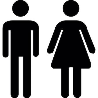 Uomo donna toilette
