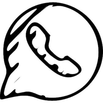 WhatsApp abbozzato logo outline