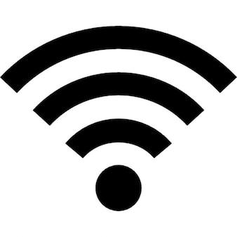 Wifi simbolo segnale medio