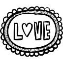 Zerbino con la parola amore