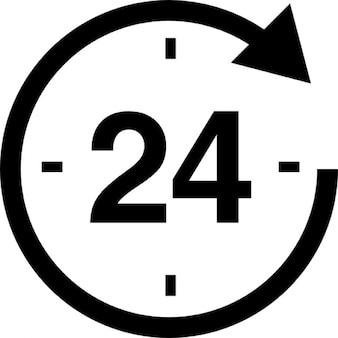 24 uur de klok rond