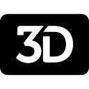 3d film symbool voor-interface