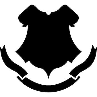 Afschermen zwarte vorm met een banner
