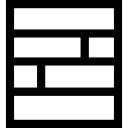 Bakstenenpatroon vierkante knop-interface symbool