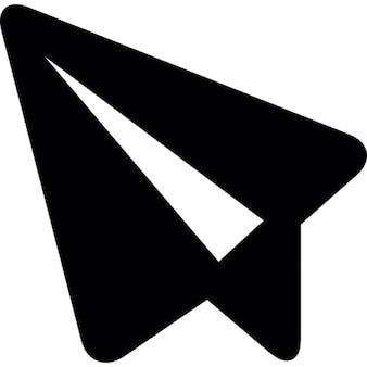 Boodschap symbool van een papieren vliegtuigje