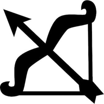 Boogschutter boog en pijl-symbool