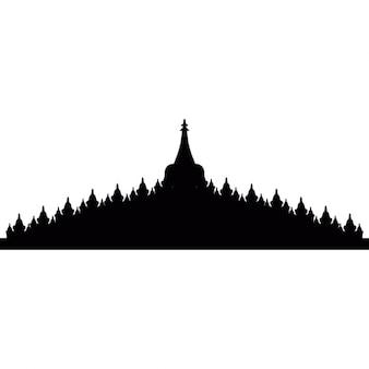 Borobudur in Java, Indonesië
