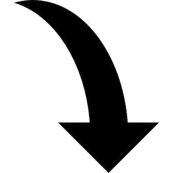 Curve pijl naar beneden