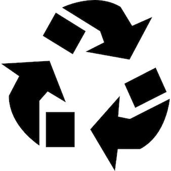Driehoekige pijlen ecologisch symbool