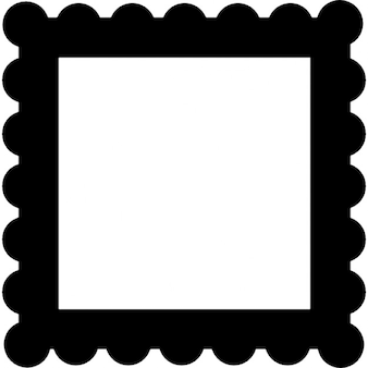 Frame grens als een postzegel