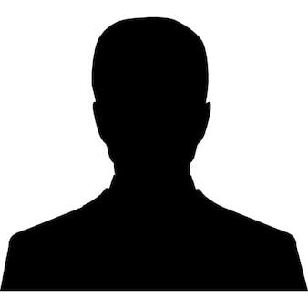 Gebruiker mannelijk silhouet