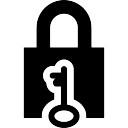 Gesloten hangslot en sleutel