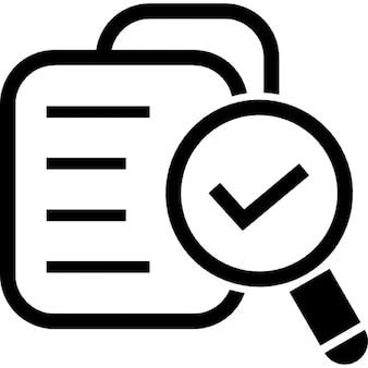 Geverifiëerd databank symbool voor-interface