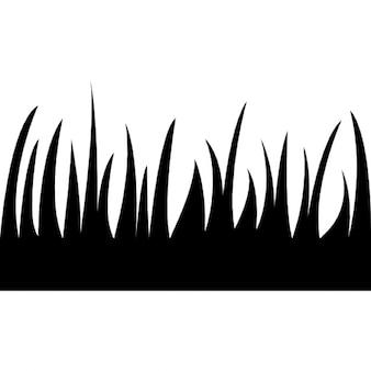 Gras bladeren silhouet