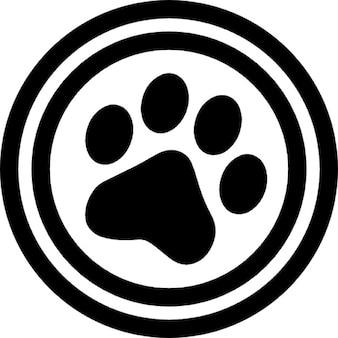 Huisdieren cirkelvormige teken