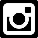 Instagram social network logo van fotocamera