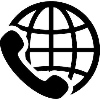 Internationaal bellen onderhoudssymbool