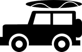 Jeep met bagage