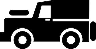 Jeep met kap en reservewiel