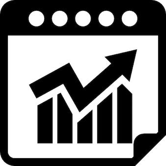 Kalender met statistieken infographic