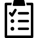 Klembord met een lijst