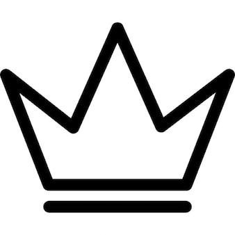 Koninklijke kroon schets voor een prins
