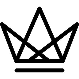 Koninklijke kroon van driehoeken rasterontwerp