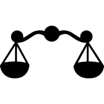 Libra astrologisch symbool van een schaal