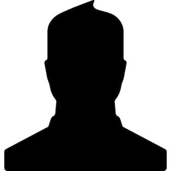 Mannelijke gebruiker close up vorm voor facebook