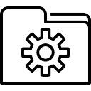 Data instellingen symbool van een venster met - Download er finestra ...