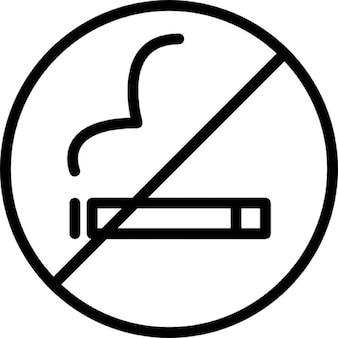 Niet roken symbool