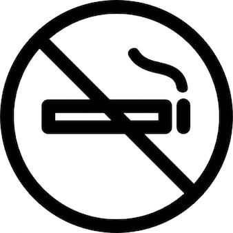 Niet rooksignaal van verbod