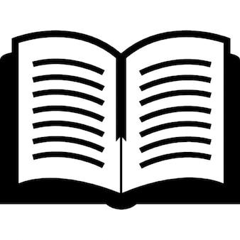 Open boek bovenaanzicht