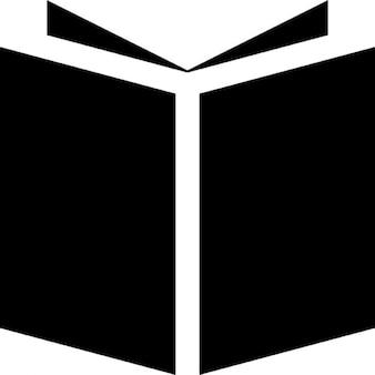 Open boek zwarte cover
