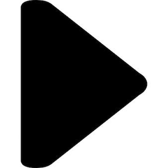 Pijl naar rechts zwarte driehoek