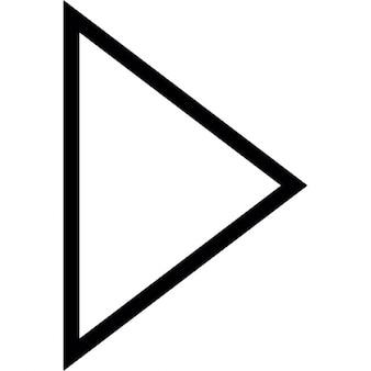 Pijlpunt driehoekige omtrek naar rechts